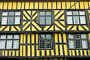 Tudor style timber-framed house in Ludlow, Shropshire, UK
