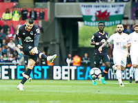 Football - 2016 / 2017 Premier League - Swansea City vs. Everton<br /> <br /> Kevin Mirallas shoots at goal, at Liberty Stadium.<br /> <br /> COLORSPORT/WINSTON BYNORTH