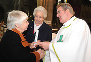 25-11-2012: Canon William Crean, the newly appointed Bishop of the Diocese of Cloyne, is congratulated by Sr Mary Kelliher and Sr Mary Columbanus at O'Connell Memorial Church, Cahersiveen, Co. Kerry on Sunday.  Picture: Eamonn Keogh ( MacMonagle, Killarney)