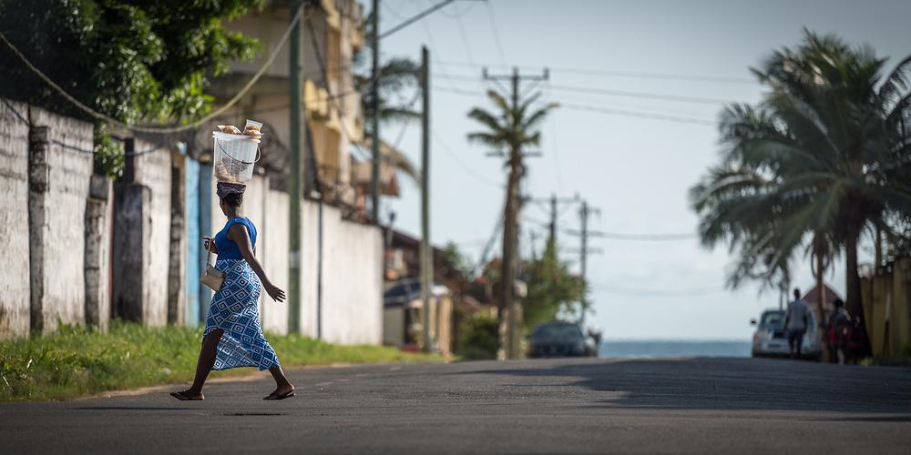 30 October 2019, Monrovia, Liberia: Street life.