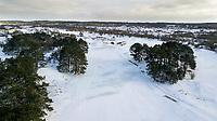 ZANDVOORT - Hole A9 en A1. Winter 2021. De Kennemer G&CC in de sneeuw.   COPYRIGHT  KOEN SUYK