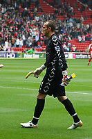 Photo: Andrew Unwin.<br />Middlesbrough v Everton. The Barclays Premiership. 14/10/2006.<br />Middlesbrough's Mark Schwarzer with a banana.