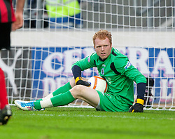 Queen of the South's Lee Robinson..Falkirk 1 v 0 Queen of the South, 15/10/2011..Pic © Michael Schofield.