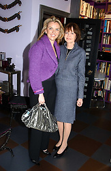 Left to right, PAULA WHITE-CORREAL and MARGARIETTE LITTMAN at a launch preview sale of Nathalie Hambro's new line of fashion accessories 'Full of Chic' held at her home 63 Warwick Square, London SW1 on 5th May 2005.<br />