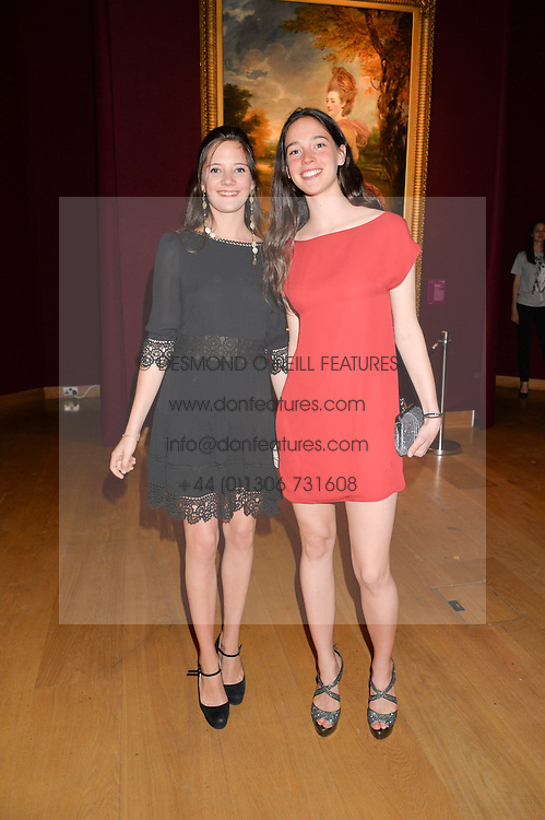 Left to right, ANNA NICCOLINI and VERA ARRIVABENE at the Tatler & Christie's Art Ball held at Christie's, 7-15 Ryder Street, London on 12th June 2014.