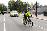 A City of London Police officer in front of a police car, seen near the Tower of London in London, England on September 05, 2018.