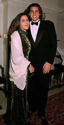 MISS JESSICA DE ROTHSCHILD and her brother MR ANTHONY DE ROTHSCHILD, children of Sir Evelyn De Rothschild, at a ball in London on 22nd May 1997.LYO 28