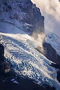 Glacier detail on Mount Athabasca, Jasper National Park, Alberta Canada