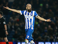 Brighton defender Bruno Saltor during the Sky Bet Championship match between Brighton and Hove Albion and Wolverhampton Wanderers at the American Express Community Stadium, Brighton and Hove, England on 1 January 2016. Photo by Bennett Dean.