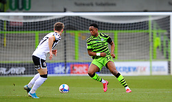 Udoka Godwin-Malife of Forest Green Rovers tries to get past Alex Hurst of Port Vale- Mandatory by-line: Nizaam Jones/JMP - 16/01/2021 - FOOTBALL - innocent New Lawn Stadium - Nailsworth, England - Forest Green Rovers v Port Vale - Sky Bet League Two