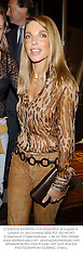 COUNTESS BARBARA VON BISMARCK at a party in London on 3rd October 2002.PDT 320 WORO