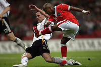 Photo: Rich Eaton.<br /> Wales v Germany. UEFA European Championships Qualifying. 08/09/2007. Wales' Robert Earnshaw shoots