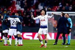 Son Heung-Min of Tottenham Hotspur celebrates after victory over Borussia Dortmund - Mandatory by-line: Robbie Stephenson/JMP - 13/02/2019 - FOOTBALL - Wembley Stadium - London, England - Tottenham Hotspur v Borussia Dortmund - UEFA Champions League Round of 16, 1st Leg