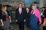 MEGAN JONES; AMBASSADOR DAVID THORNE AND HIS WIFE; HOLLY BLOCK, The Bronx Museum of the Arts, Tanya Bonakdar Gallery and the Victoria Miro Gallery host a reception and dinner in honor of Sarah Sze: Triple Point. Representing the United States of America at the 55th Biennale di Venezia with the Co  Commissioners of the  U. S. Pavilion Holly Block, Executive Director of the Bronx Museum of the arts  and Carey Lovelace. <br /> <br /> Rialto Fish market. Venice. . 29 May 2013