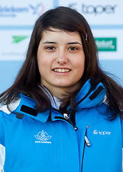 Spela Molk at Official photo of  Slovenia Cross-country Skiing team for  European Youth Olympic Festival (EYOF) in Liberec (CZE) at official presentation, on February  9, 2011 at Bled Castle, Slovenia. (Photo By Vid Ponikvar / Sportida.com)