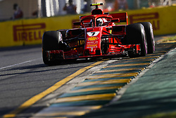 March 23, 2018 - Melbourne, Victoria, Australia - RAIKKONEN Kimi (fin), Scuderia Ferrari SF71H, action during 2018 Formula 1 championship at Melbourne, Australian Grand Prix, from March 22 To 25 - Photo  Motorsports: FIA Formula One World Championship 2018, Melbourne, Victoria : Motorsports: Formula 1 2018 Rolex  Australian Grand Prix, (Credit Image: © Hoch Zwei via ZUMA Wire)
