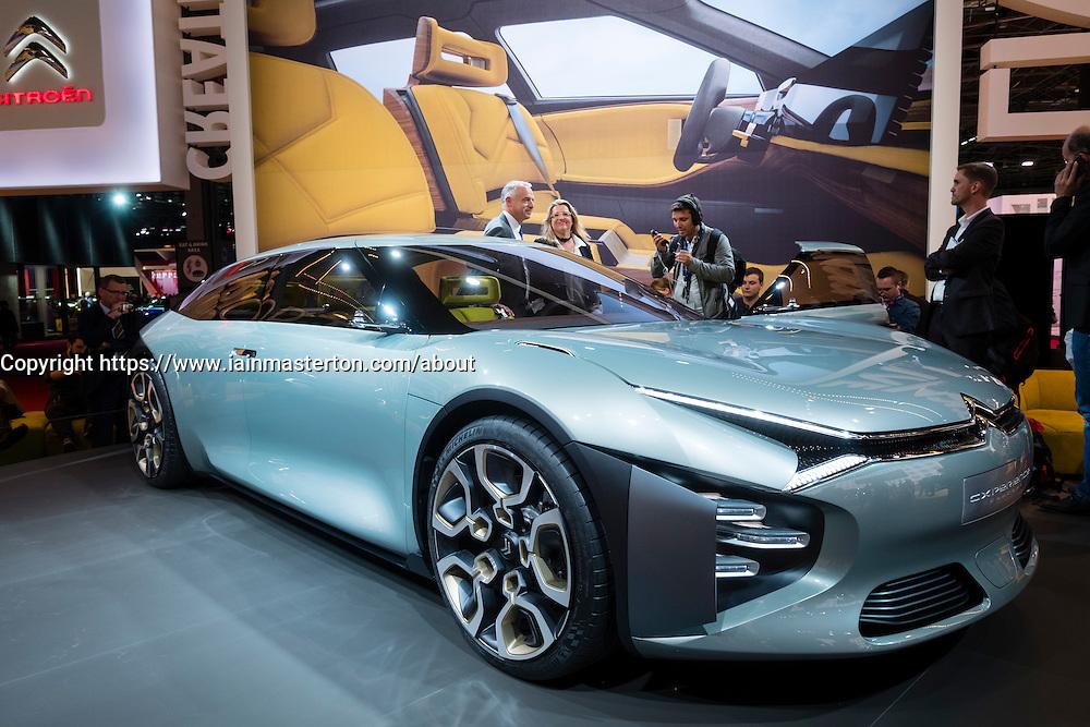New Citroen CXperience large saloon concept at Paris Motor Show 2016