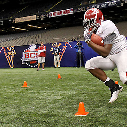January 5, 2012; New Orleans, LA, USA; Alabama Crimson Tide running back Nick Tinker (26) during a team practice for the 2012 BCS National Championship game to be played on January 9, 2012 against the LSU Tigers at the Mercedes-Benz Superdome.  Mandatory Credit: Derick E. Hingle-US PRESSWIRE