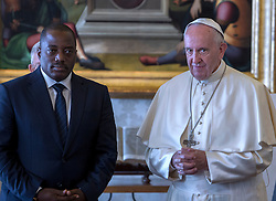September 26, 2016 - Vatican City State (Holy See) - POPE FRANCIS meets President Of Congo KINSHASA JOSEPH KABILA Kinshasa Joseph Kabila in the private library in the Apostolic Palace at the Vatican. (Credit Image: © Evandro Inetti via ZUMA Wire)