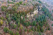 Aerial photograph of Gibraltar Rock State Natural Area, near Lodi, Columbia County, Wisconsin, USA.