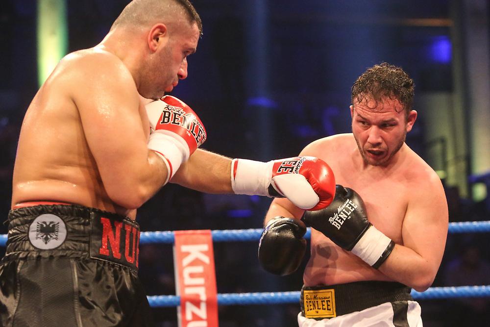 BOXEN: EC Boxing & SES Boxing, Hamburg, 18.01.2020<br /> Schwergewicht: Nuri Seferi (GER / ALB) - Mazen Girke (GER)<br /> © Torsten Helmke
