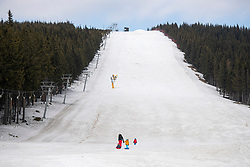 March 17, 2020, Mala Upa, Czech Republic: Skiareal Mala Upa without tourists in Krkonose (Giant Mountains), east Bohemia, on the Polish border. All hotels and pensions are closed to prevent the coronavirus spread in Czech Republic. (Credit Image: © David Tanecek/CTK via ZUMA Press)