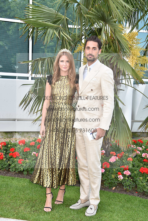 Hugo Taylor and Millie Mackintosh at The Investec Derby, Epsom, Surrey England. 3 June 2017.<br /> Photo by Dominic O'Neill/SilverHub 0203 174 1069 sales@silverhubmedia.com