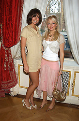 Left to right, actress MARGO STILLEY and HANNAH SANDLING at a fashion show featuring the Miss Selfridge Autumn/Winter '05 collections held at The Wallace Collection, Manchester Square, London W1 on 6th April 2005.<br />
