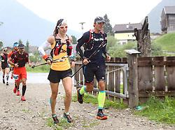 25.07.2015, Ortsteil Ködnitz, Kals, AUT, Grossglockner Ultra Trail, 50 km Berglauf, im Bild Erdmann Kerstin (GER, führende bei Rudolfshütte) // Erdmann Kerstin of Germany during the Grossglockner Ultra Trail 50 km Trail Run from Kals arround the Grossglockner to Kaprun. Kals, Austria on 2015/07/25. EXPA Pictures © 2015, PhotoCredit: EXPA/ Stringer