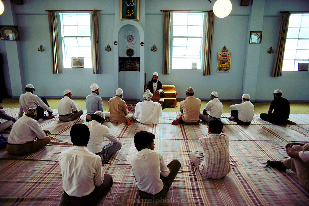 Muslims pray in a Sacramento, California, mosque. USA.