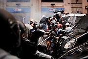 Momenti di tensione durante la manifestazione dei movimenti per la casa, in via del Tritone. <br /> Roma, 31 ottobre 2013. Daniele Stefanini /  OneShot