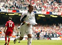 Photo: Chris Ratcliffe.<br /> Liverpool v West Ham United. The FA Cup Final. 13/05/2006.<br /> Dean Ashton of West Ham celebrates scoring the second goal.