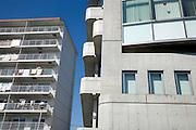 facades of residential apartments in Japan Yokosuka