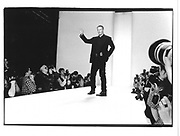 Calvin Klein at his show© Copyright Photograph by Dafydd Jones 66 Stockwell Park Rd. London SW9 0DA Tel 020 7733 0108 www.dafjones.com