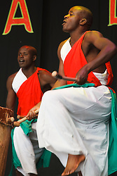 Drummers of Burundi performing at WOMAD Charlton Park 2010.