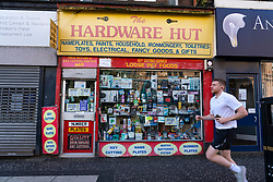 Glasgow, Scotland, UK. 7 October 2020. Time Out magazine has named Dennistoun in the East End of Glasgow as one of the world's coolest districts. Pictured;  Typical independent shop on Alexandra Parade in Dennistoun Iain Masterton/Alamy Live News