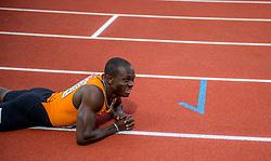 08-07-2016 NED: European Athletics Championships day 3, Amsterdam<br /> Solomon Bockarie eindigt als vijfde op de 200 meter