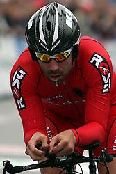 during the Elite Men's Time Trial on day three of the UCI Road World Championships on September 21, 2011 in Copenhagen, Denmark. (Photo by Marjan Kelner / Sportida Photo Agency)