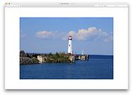 The St. Ignace Lighthouse, otherwise known as the Wawatam Lighthouse on the St. Ignace side of the Mackinac Bridge, Upper Peninsula, Michigan, USA
