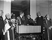 Franciscan Minister General Conferring of Honorary Degrees at Iveagh House.11/04/1957
