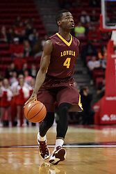 06 January 2016:  Devon Turk(4)during the Illinois State Redbirds v Loyola-Chicago Ramblers at Redbird Arena in Normal Illinois (Photo by Alan Look)
