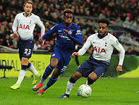 Football - 2018 / 2019 EFL Carabao Cup (League Cup) - Semi-Final: Tottenham Hotspur vs. Chelsea<br /> <br /> Danny Rose of Tottenham holds of Callum Hudson - Odoi of Chelsea, at Wembley Stadium.<br /> <br /> COLORSPORT/ANDREW COWIE