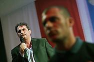 Campo d'Azione 2006 di Forza Nuova a Marta (VT) : Nella foto Roberto Fiore leader e fondatore di Forza Nuova meeting of forza nuova, raduno forza nuova