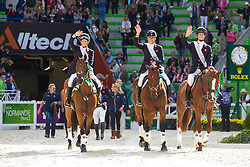 Team GBR won silver in the team test eventing - Alltech FEI World Equestrian Games™ 2014 - Normandy, France.<br /> © Hippo Foto Team - Leanjo De Koster<br /> 31-08-14