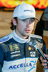 November 2, 2018 - Fort Worth, TX, U.S. - FORT WORTH, TX - NOVEMBER 02: Monster Energy NASCAR Cup Series driver Ryan Blaney (12) wins the pole award for the AAA Texas 500 on November 02, 2018 at the Texas Motor Speedway in Fort Worth, Texas. (Photo by Matthew Pearce/Icon Sportswire) (Credit Image: © Matthew Pearce/Icon SMI via ZUMA Press)