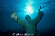 Christ of the Abyss statue, Key Largo Dry Rocks, Florida Keys National Marine Sanctuary, Florida ( Western Atlantic Ocean )