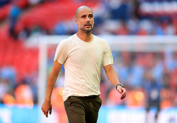 Manchester City manager Josep Guardiola after the Community Shield match at Wembley Stadium, London.