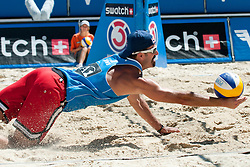 Todd Rogers of USA at A1 Beach Volleyball Grand Slam tournament of Swatch FIVB World Tour 2010, semifinal, on August 1, 2010 in Klagenfurt, Austria. (Photo by Matic Klansek Velej / Sportida)
