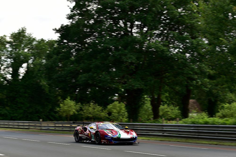#71 AF Corse Ferrari 488 GTE EVO: Davide Rigon, Sam Bird, Miguel Molina<br /> Wednesday 13 June 2018<br /> 24 Hours of Le Mans<br /> 2018 24 Hours of Le Mans<br /> Circuit de la Sarthe  FR<br /> World Copyright: Scott R LePage