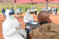 South Africa - Johannesburg - 27 April 2020 - A resident of Alexandra township gets his blood pressuer tested for COVID-19, residents gatered to be screened and tested for coronavirus, the campaign is targeting Johannesburg epicenter. <br /> Picture: Itumeleng English/African News Agency(ANA)